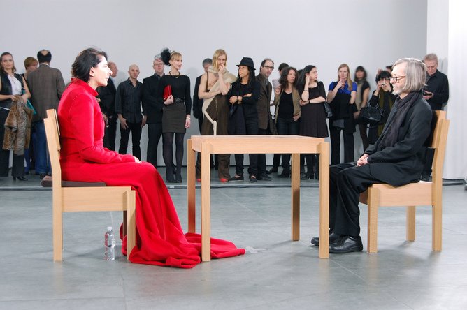 Marina Abramović, The Artist Is Present, 2010. (Andrew Russeth)